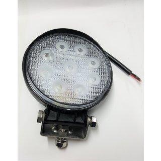 LED Arbeitsscheinwerfer rund 116mm Durchmesser 12V 24V, 27W, 2100Lumen Traktor