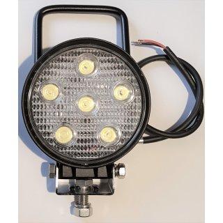 LED Arbeitsscheinwerfer rund 12V, 24V,18W , mit Griff Traktor Schlepper