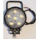 LED Arbeitsscheinwerfer rund 12V, 24V,18W , mit Griff...