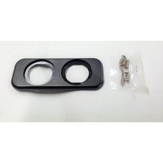 Montageplatte Einbaurahmen 2 fach für Voltmeter Ampermeter Batteriewächter
