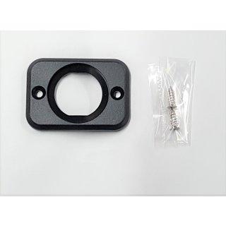 Montageplatte Einbaurahmen 1 fach für Voltmeter Ampermeter Batteriewächter