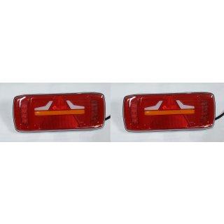 LED Rückleuchten Set 12/24V Rücklicht Anhänger dynamisches Neon Blinklicht
