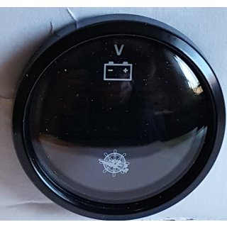 Voltmeter schwarz, schwarzen Rand 12V 24V  Spannungs  Batterieanzeige Anzeige Digital