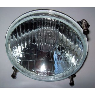Scheinwerfer Scheinwerfereinsatz H4 mit Leuchtmittel  130 mm für JOHN DEERE 830-3650