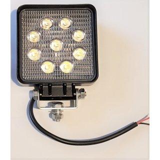 LED Arbeitsscheinwerfer 108 x108mm 12V, 24V, 24W, 1430 Lumen Traktor Schlepper Baumaschine