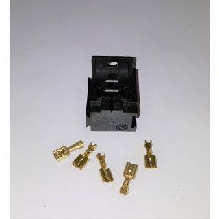 KFZ Sockel für Blinkgeber Relais Relaisstecksockel  Bosch Anreibar 5 Polig 6,3mm
