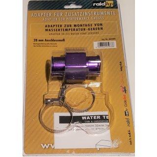 Wasser Temperatur Adapter Kühlerschlauch 28mm Temperaturanzeige Geber 1/8NPTF