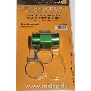 Wasser Temperatur Adapter Kühlerschlauch 36mm Temperaturanzeige Geber 1/8NPTF