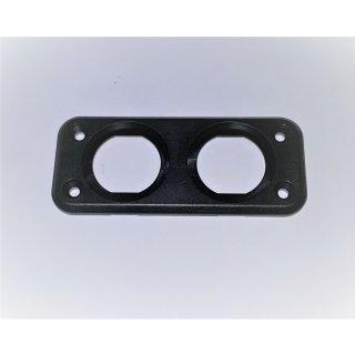 Montageplatte Einbaurahmen 2 fach für Voltmeter Ampermeter Batteriewächter USB Buchse