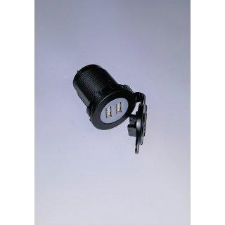 USB Buchse 2 fach mit Beleuchtung mit Deckel 12/24V Volt Boot Traktor Wohnmobil