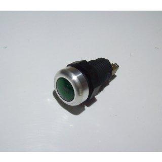 LED Kontrollleuchte Kontrolllampe Anzeigelampe Anzeigeleuchte Alurand grün 12V