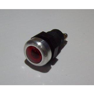 LED  Kontrollleuchte Kontrolllampe Anzeigelampe Anzeigeleuchte Alurand rot 12V