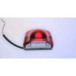 Nummernschildleuchte Kennzeichenleuchte rot LED 12/24V Positionslicht