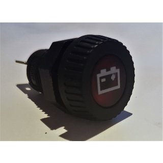 LED Kontrollleuchte Kontrolllampe Anzeigelampe 12V Batterie rot Oldtimer
