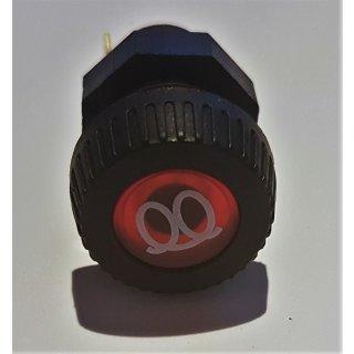 LED Kontrollleuchte Kontrolllampe Anzeigelampe Kontrollleuchte 12V vorglühen rot Oldtimer