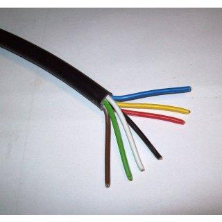 Kabel 7 x 0,75 mm² polig Fahrzeugkabel Fahrzeugleitung Anhängerkabel 1 Meter