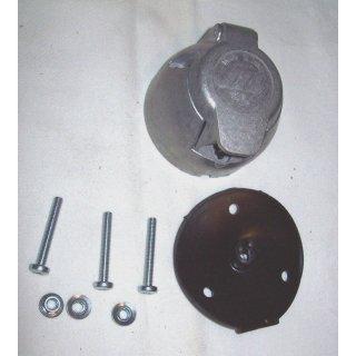 Profi Set 7-polig  Steckdose Metall  für Traktor Trailer Oldtimer