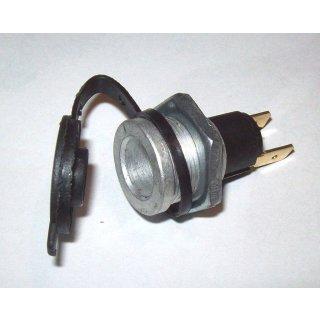 Steckdose DIN 2 Polig  mit Deckel 12V Fendt für Handlampe Scheibenwischer etc.
