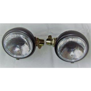 1 Set Bilux Scheinwerfer 130mm Licht. Aufsteckscheinwerfer John Deere Deutz IHC