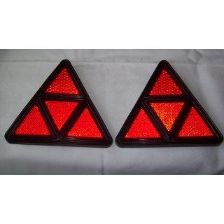 1 Set Klassische  Dreiecksrückstrahler Rückstrahler Anhänger