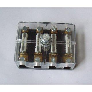 Sicherungsdose Sicherungskasten KFZ  4 polig transparent Oldtimer MZ