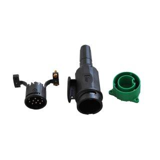 Profi Stecker 13 polig mit Parkdose Spritzwassergeschützt für Trailer Anhänger