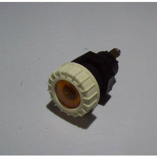 Kontrollleuchte Kontrolllampe Anzeigelampe Anzeigeleuchte Elfenbein Weiß , gelb Oldtimer