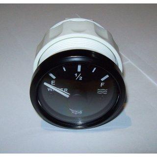Tankuhr Tankanzeige Füllstandsanzeige für Wasser schwarz 12/24Volt 10-180 Ohm