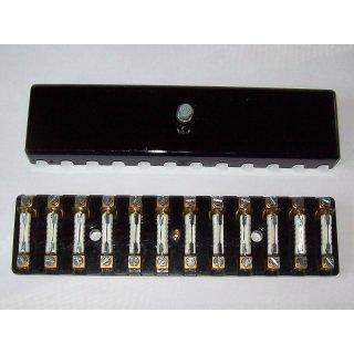 Sicherungsdose Sicherungskasten 12 polig schwarz Torpedosicherung 8A Oldtimer