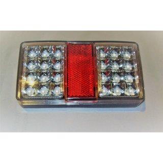 LED Multifunktionsleuchte weiß  rot mit Rückstrahler Rücklicht