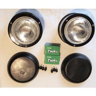 Komplett Set Scheinwerfer mit Halter, Deckel und Leuchtmittel  für Deutz 06 Serie D 2506 - D16006