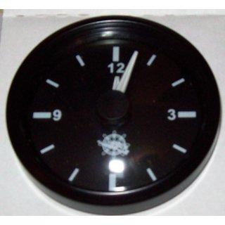 QUARZ UHR ZEITUHR CLOCK 12V & 24V 52mm schwarz