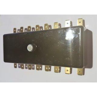 Sicherungsdose Sicherungskasten KFZ 8 polig schwarz mit Flachsteckanschluss undTorpedosicherung 8A Oldtimer