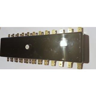 Sicherungsdose Sicherungskasten KFZ 12 polig schwarz mit Flachsteckanschluss undTorpedosicherung 8A Oldtimer