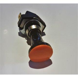 Kfz-Zugschalter Schalter mit oranger Beleuchtung 12V/6A Zugschalter