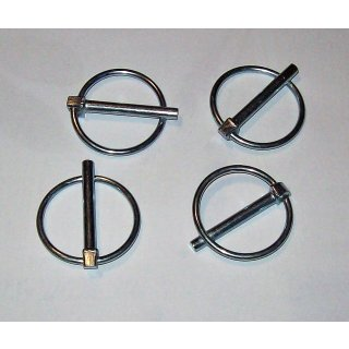 """4 x Klappsplinte Klappstecker Stecker 1/4"""" - 6 mm für Heckhydraulik"""