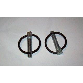 2x Klappsplinte Klappstecker 11 mm für Heckhydraulik Ackerschiene