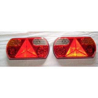1 Set LED Rückleuchten rot 12V/24V Schlusslicht Rücklicht Nebel Rückfahr Anhänger