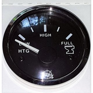 Schmutzwasser Grauwasser Waste Tankuhr Tankanzeige Schwarz 10-180Ohm