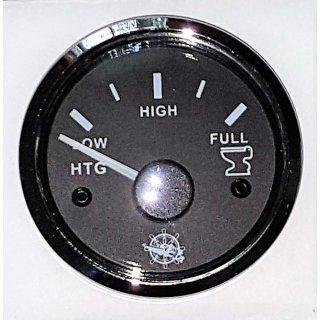 Schmutzwasser Grauwasser Waste Tankuhr Tankanzeige schwarz poliert 10-180 Ohm
