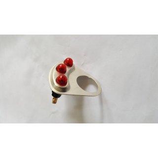 Halter mit 3x Leuchte Lampe rot Kontrollleuchten Blinklicht Blinker für Massey Ferguson