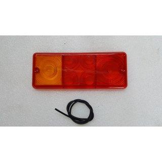 Lichtscheibe DDR Rückleuchte Rücklicht Anhänger W50 S4000 Robur HW60 HW80 THK5 HP 400 500