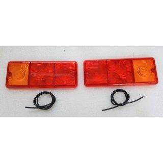 2 x Lichtscheibe DDR Rückleuchte Rücklicht W50 S4000  Anhänger HP HW60 80 THK5