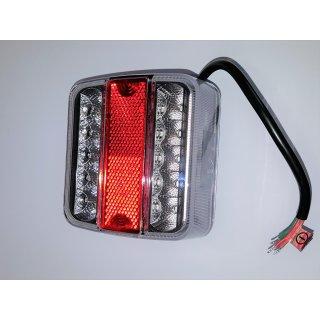 LED Multifunktionsleuchte weiß rot 12V Rückstrahler Rücklicht Kennzeichenlicht
