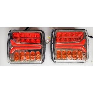 LED Rückleuchten Set 12/24V Rücklicht Anhänger dynamisches Blinklicht 7,5m Kabel
