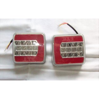 LED Rückleuchten weiß rot 12/24V Rücklicht Kennzeichenlicht Anhänger Hänger