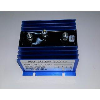 Ladestromverteiler Trenndiode 1 Lichtmaschine auf 2 Batterien 2 x75A-130A