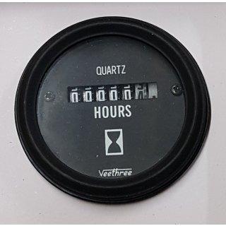 Betriebsstundenzähler 52 mm Stundenzähler 12V 24V Traktor Boot Wohnmobil Bagger
