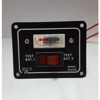 Voltmeter Boot Testpaneel 2 Batterien 12V Tester analog Boot Wohnmobil